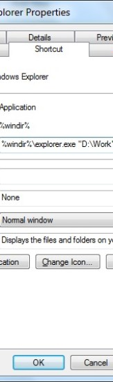 Win7 - How to change Windows Explorer startup folder