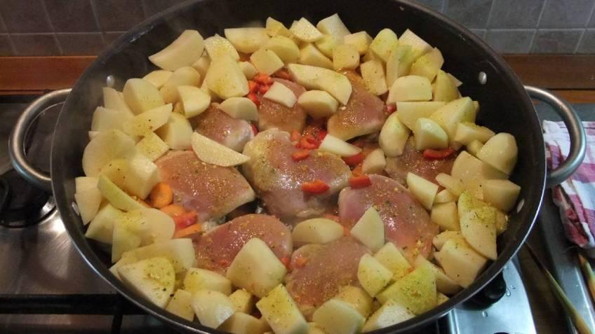 Pileci karabatak u povrcu s preljevom od gljiva - priprema 2