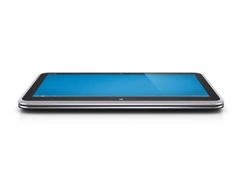 Dell XPS Duo 12 convertible - screen rotated to tablet position.