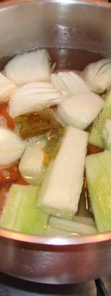 Krem juha od povrća - tijekom pripreme