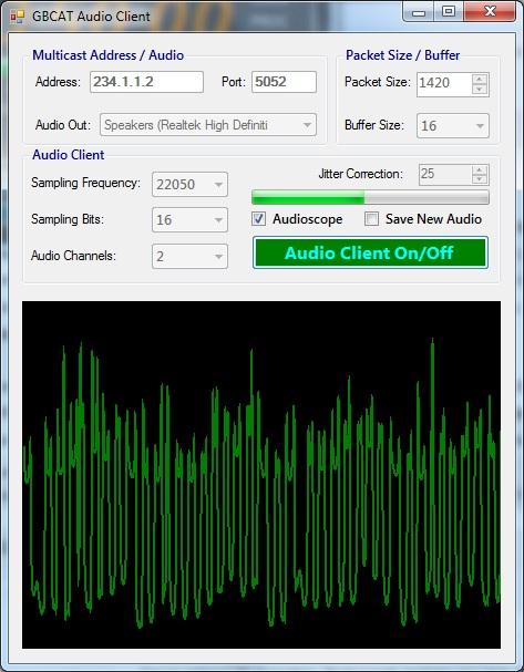 GBCAT Audio Client in work