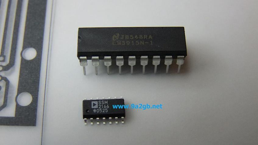 SSM2166 + LM3915