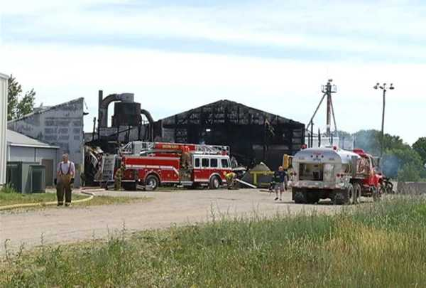 Fire Rips Through a Montcalm County Business