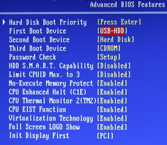 bios boot order