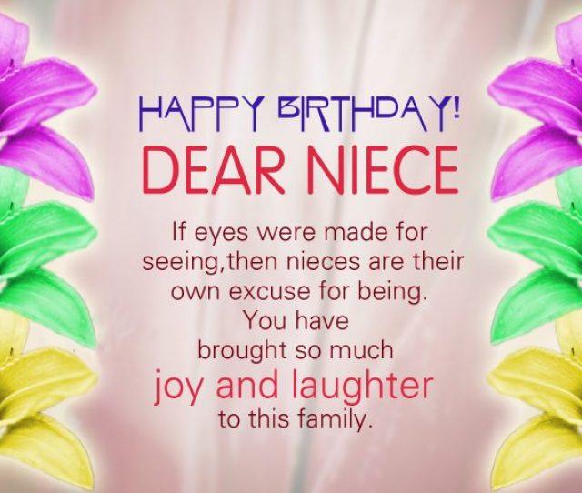 Joyful Birthday Niece Wishes