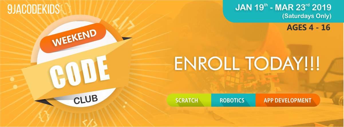 Weekend coding, programming, robotics club for kids in Port Harcourt