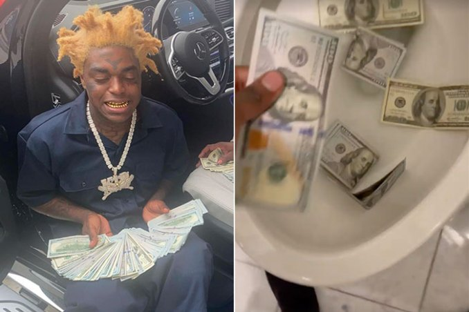 kodak black toilet money