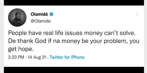 Olamide tweet