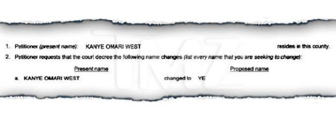 kanye west name change