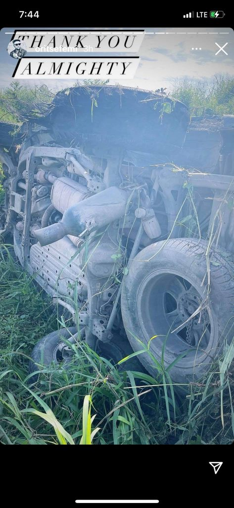 Oritsefemi Car Accident. 1