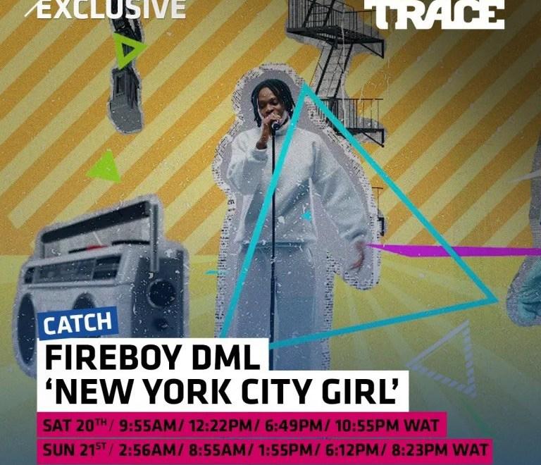 New York City Girl – Fireboy DML Free Mp3 Download