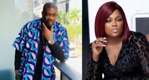 Donjazzy writes emotional message to Funke Akindele, says she is a good example [Details]