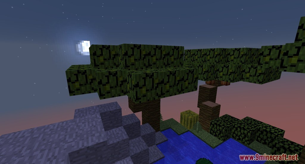 Nine Islands Skyblock Map 11221112 For Minecraft