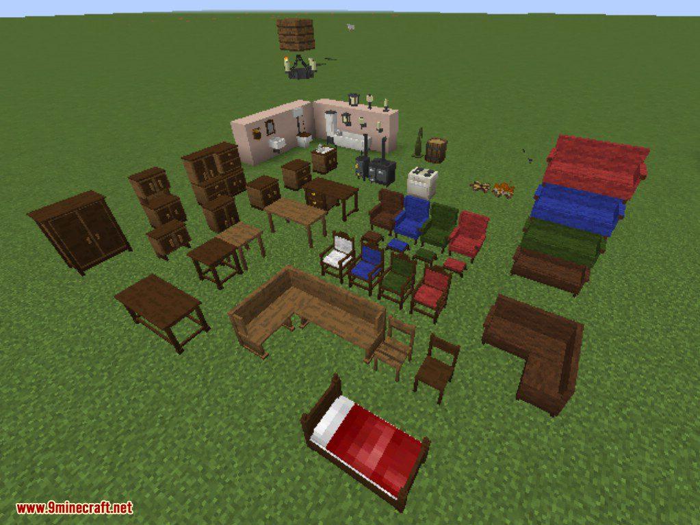 Моды для майнкрафт на мебели