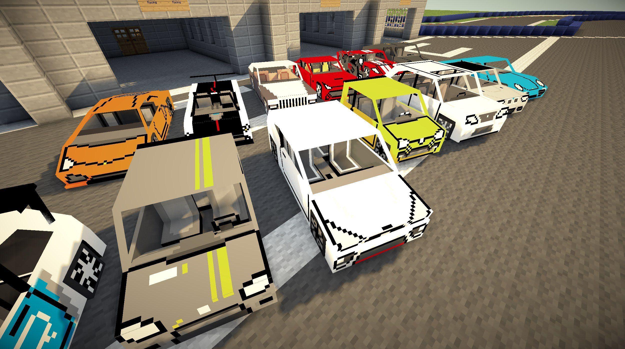 машина и гараж в майнкрафте мод #1