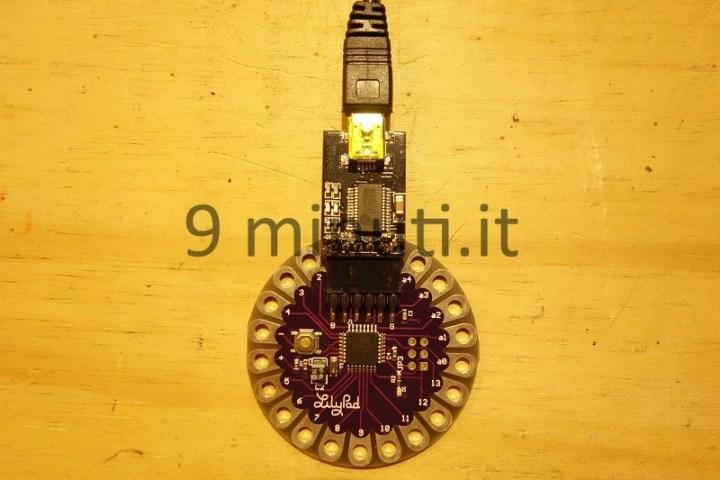 Lilypad e l'adattatore USB-seriale PL2303HX