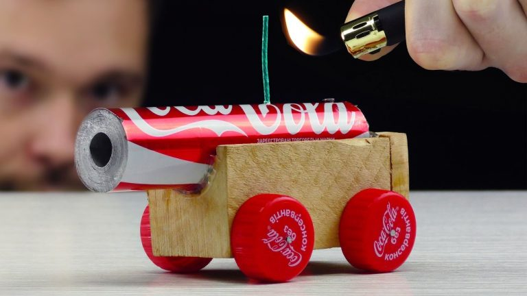 How You Can Make A Killer Cannon From Empty Coca Cola Cans