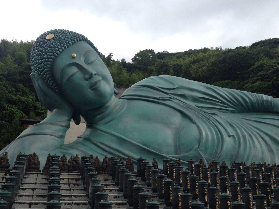 「南蔵院」-世界一大きな大仏様が横たわる!有名な福岡の宝くじスポット【笹栗】