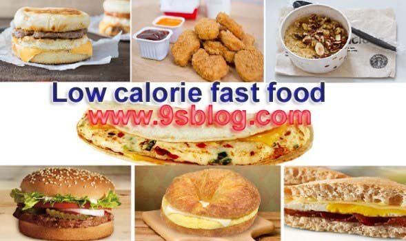 low calorie fast food