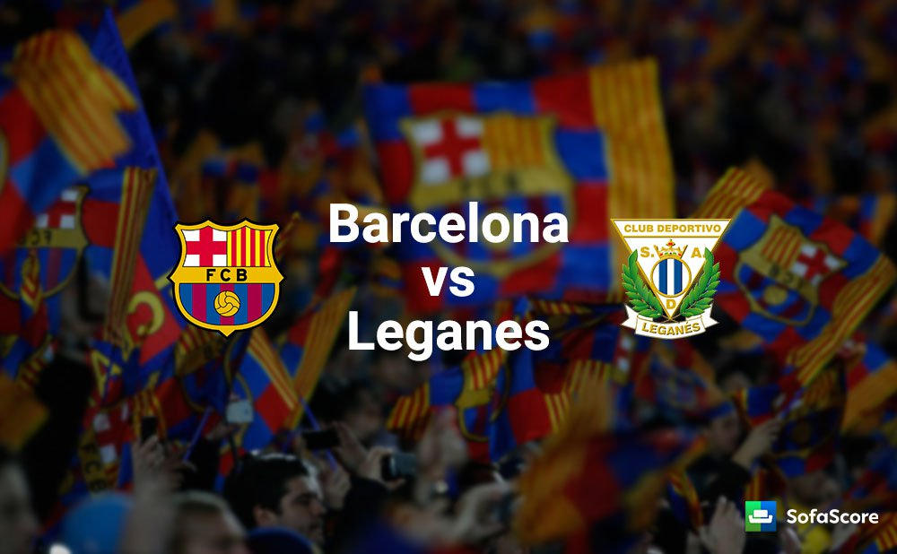 Barcelona vs Leganes, official formations