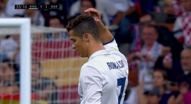 Video: Ronaldo reaction when Messi scored