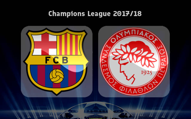 LIVE: Barcelona vs Olympiacos