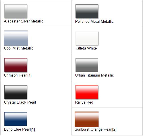 Options Color 2012 Honda Civic