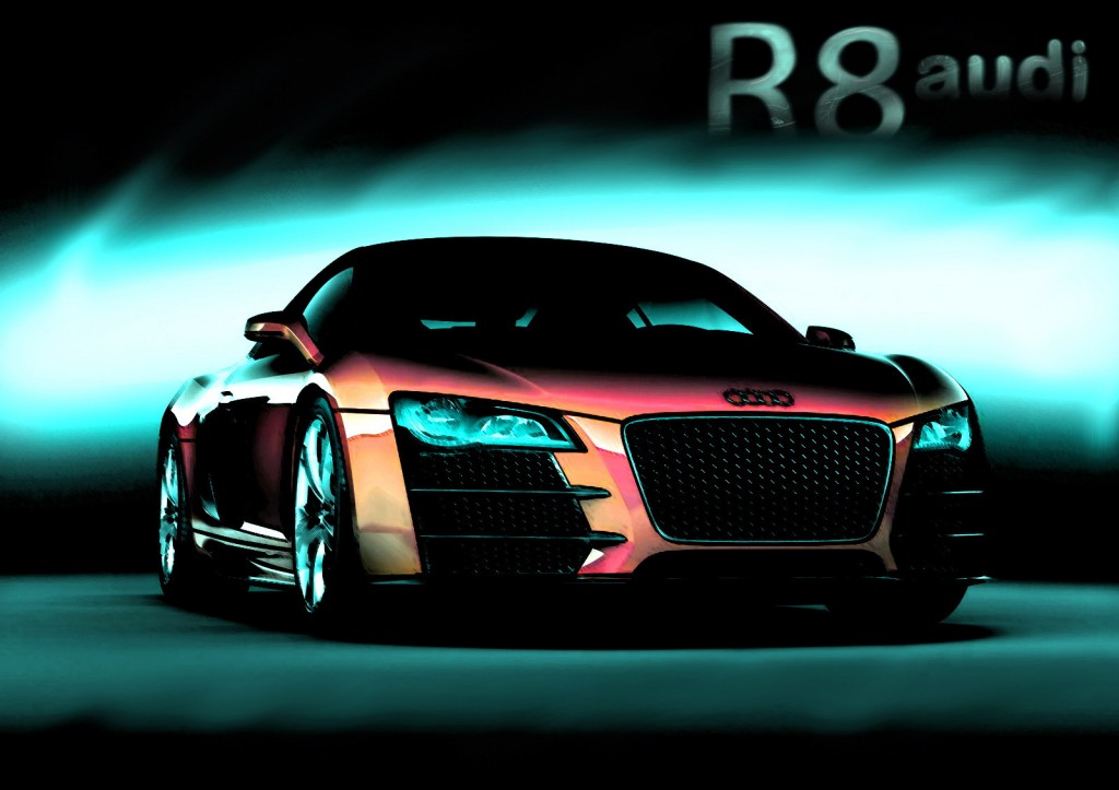 Red Modified Audi R8 HD Wallpaper