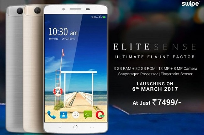newest 454f4 33e83 Swipe Elite Sense with 5-inch HD display, 3GB RAM, 4G VoLTE launched ...