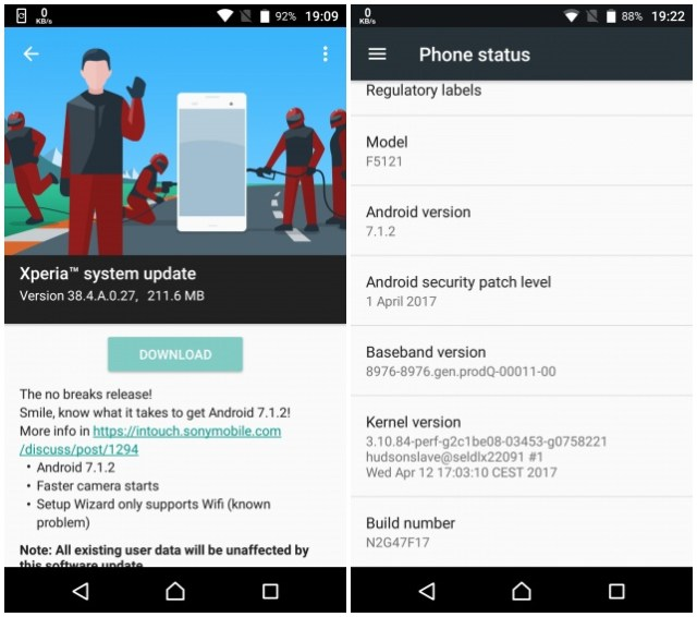 Sony Xperia X Concept units start getting Android 7 1 2 update