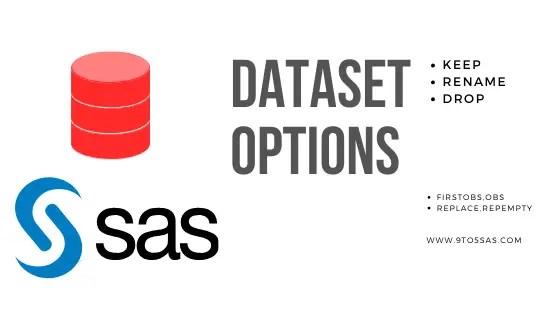 Data set Options in SAS