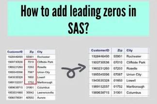 How to add leading zeros in SAS?