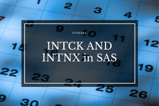 Date Interval Functions – INTNX and INTCK in SAS