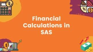 Financial Calculations in SAS