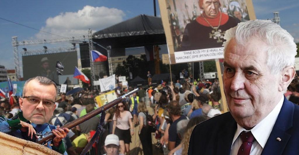 Prezident Zeman na Letné 1989 a dnes. Milion chvilek pro totální chaos. Nenávist a výsměch svobodným volbám. Matky zaktivovaly své děti proti vládě a justici.