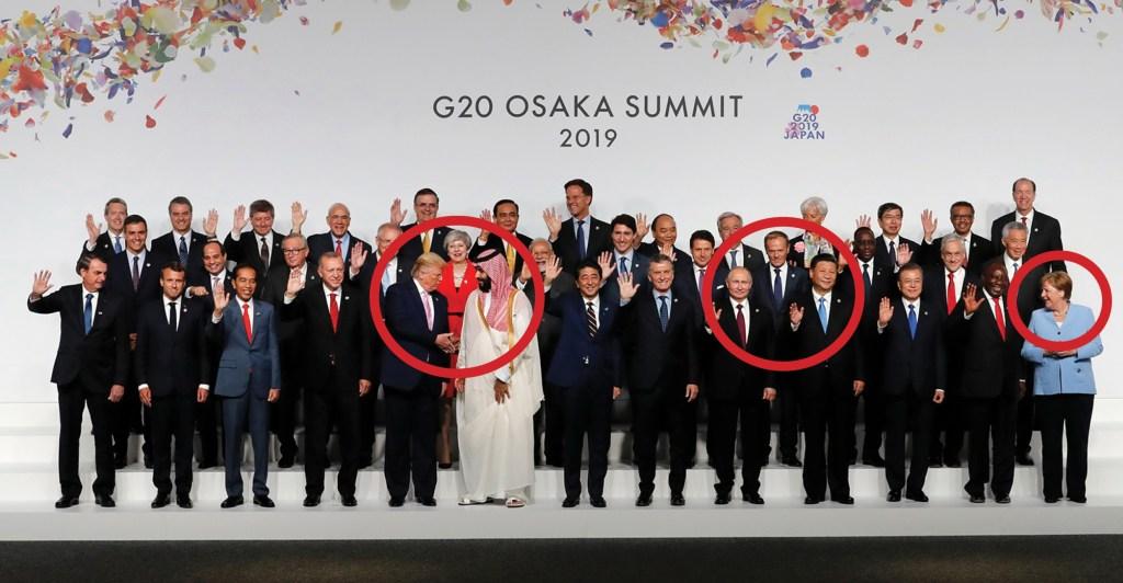 Řeč těla na summitu G20: Trump nadšen z vousů saudského prince, Merkelová v koutě, ale zatím se netřese. Putin se kamarádí s Čínou. Koho zapálí komisař Juncker?