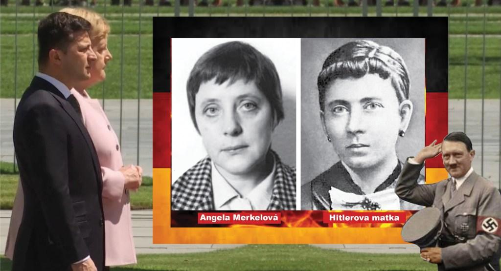 Podoba ze které mrazí. Je Angela Merkelová utajenou dcerou Adolfa Hitlera? Na stopě šílené teorie, která se nakonec ukáže v nečekaných souvislostech. Kdo je doktor Clauberg?
