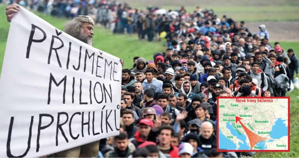 Děsivé video z Balkánské trasy: Imigranti pochodují krajinou a hulákají Alláh Akbar. Je jich čím dál víc. Bez výjimky jde o mladé muže v plné síle. Šílený příběh města na imigrantské trase, kde se z hostitelů stali hosté