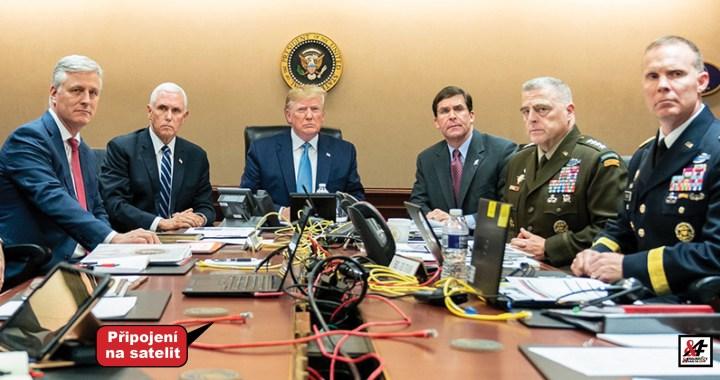 Smrt nejhledanějšího teroristy světa je fake news. Padl Trump do pasti, nebo se na tom jen podílel? Mainstream zase skočil na špek. Deep state vrací úder. Vrtěti psem v plné parádě