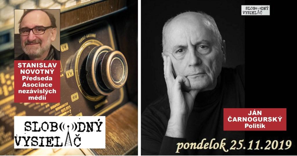 Exkluzivní rozhovor Na prahu změn: Ján Čarnogurský, československý politik