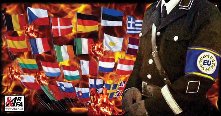 """Vzpoura v europarlamentu. Šokující VIDEO. Poslanci se vzepřeli zákazu vlajek. """"To nejsou reklamní předměty!"""" Bučení a volání """"Hanba!"""". Předsedkyně ztratila zábrany a přešla do němčiny. Čtvrtá říše už trestá své odpůrce"""