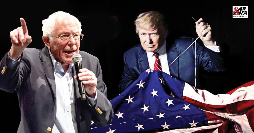 """Tohle může být důležité: """"Šílený Bernie"""" v amerických primárkách drtí konkurenci, ač ho nikdo z politbyra nechce. Demokratická strana USA (Obamova parta) se zhroutí zevnitř. Republikán Trump se směje, ale…"""