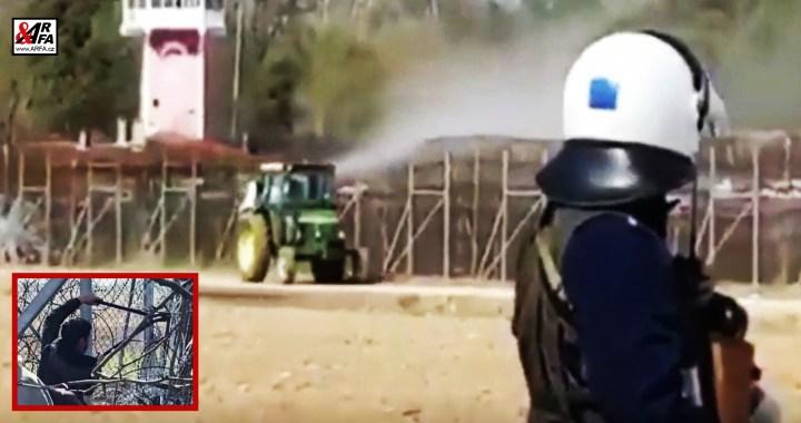 BRAVO! Stateční řečtí traktoristé brání Evropu (VIDEO) místo nečinné armády Evropské unie. Postřik místo slov. Kdo, když ne my. Kdy, když ne teď. Unikátní záběry migrantů, stříhajících dráty (VIDEO)
