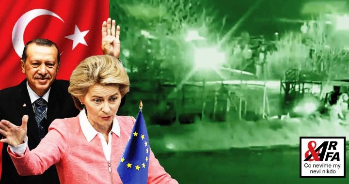 Zastavte to! Turecko už strhává řecké pohraniční ploty. VIDEO. Demoliční auta dostali Turci z Evropské unie. 40 tisíc migrantů na hranici. Islamizace Evropy jede na plné pecky