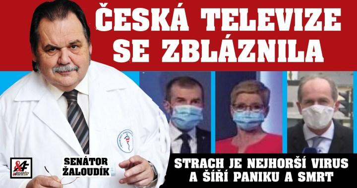 """""""Česká televize se zbláznila, naprosto zbláznila,"""" říká senátor, ředitel nemocnice a světově uznávaný lékař. VIDEO! Proč Česká televize děsí koronavirem občany 24 hodin denně? Umírají kvůli tomu lidé! Už ji někdo vypněte!"""