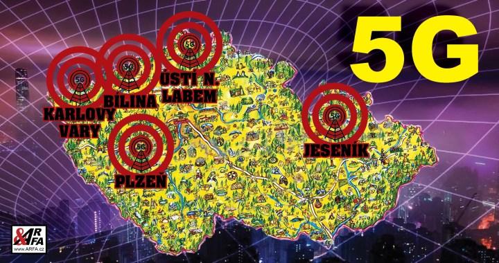 """Síť 5G již i nás: Pět českých pokusných měst – první už se vzbouřilo. """"Všechny nás to tu zabije!"""" děsí se občané Jeseníku. V okolních zemích přibývá útoků žhářů na věže, ptáci prý padají z oblohy a vymírají včely"""
