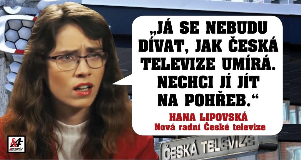 """Česká televize jako zombie? Nová radní Hana Lipovská: """"Nebudu se dívat, jak ČT umírá, já ji nechci jít na pohřeb. Teď budu sledovat tok peněz."""" O šíření nenávisti, útocích na rodinu a blízké"""