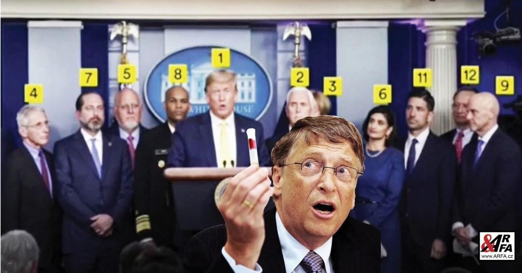 """Tyranie """"Koronavirus 2020"""": Konspirační teorie, nebo už realita? VIDEO. Důkaz: Tohle je tým prezidenta Trumpa, pracující ve skutečnosti pro Billa Gatese a velké farmaceutické firmy"""