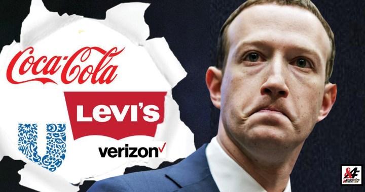 """Facebook pod tlakem: Coca-cola vyhlásila bojkot reklamy. Ve """"vzpouře inzerentů jede již 90 firem. Falešná vlajka """"šíření nenávisti"""". Škody jdou do miliard. Statečný Mark bojuje, ale…"""