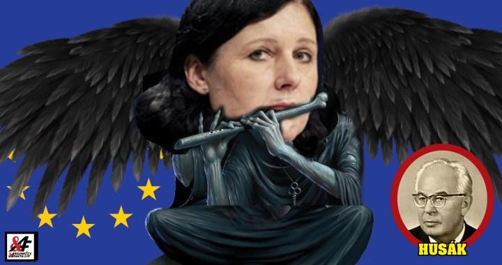 """Jak vrchní cenzorka miss Jourová ovládla český parlament: Zřízení komise """"Jediné pravdy"""". Pod diktátem nadlidí z  Evropské komise: Dolů hlavy! Husák se vrátil. Bude hůř. Sdílejte, než to smažou"""